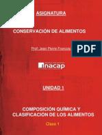 CLASE 1 - Composición Química y Clasificación de Los Alimentos