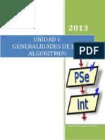 Unidad i Generalidades de Los Algoritmos