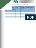 Tabla 5. Trabajos y Producciones de Los Alumnos