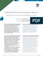 Optimizacin de Sistemas de Transporte y Distribucin