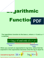 9.4 Logarithmic Functions