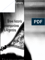Romero - Breve Historia Contemporanea de La Argentina-2da Edición