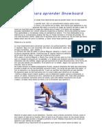 Consejos Para Aprender Snowboard