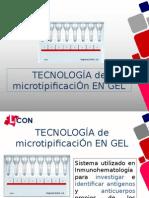 Tecnologia de Microtipificacion en Gel