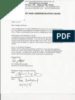 Administrative Leave Notice- Lindsay DeVries