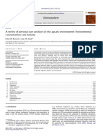 A Review of Personal Care Products in the Aquatic Environment