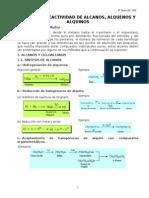 Sintesis y Reactividad de Alcanos Alquenos y Alquinos (2)