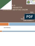 pengaruh inhibitor terhadap aktivitas enzim