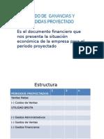ESTADO DE  GANANCIAS Y  PERDIDAS PROYECTADO