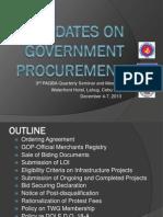 UPDATES on Government Procurement by DBM Director Renato M. de Vera