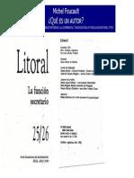 Foucault Michel Que Es Un Autor