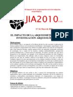 JIA2010 SESIÓN Nº11 (Arqueometría)