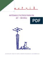 FM 87-108MHz Antenas e Filtros