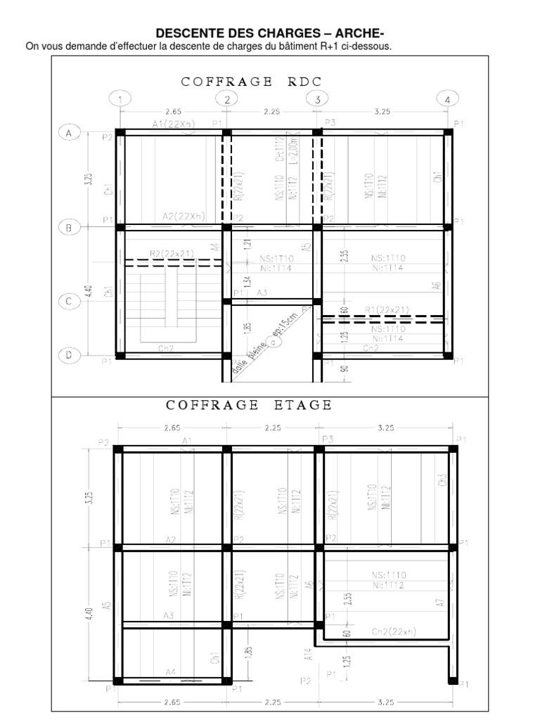 Plan de coffrage dune villa - Plan de coffrage ...