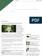 10 Pose Yoga Untuk Mengecilkan Perut - Bag 1