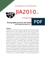 JIA2010 SESIÓN Nº12 (Demographic processes)