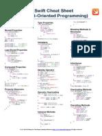 Swift Cheat Sheet - Object Oriented Programming - A4