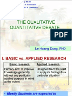 MA TESOL Research Methods W3 Qualitative Quantitative Debate