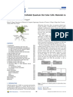 The Architecture of Colloidal Quantum Dot Solar Cells