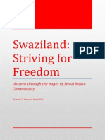 Swaziland Striving for Freedom Vol 17 Jan - Mar 2015