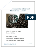 CSR and Sustainability Initiatives of Starbucks Inc