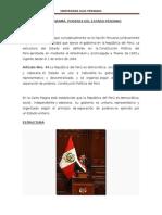 Organigrama Poderes Del Estado Peruano