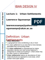 Urban Design_ Lecture_01_Origins and Forms of Urban Settlements