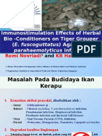Immunostimulation Effects of Herbal Bio -Conditioners on Tiger Grouper (E. fuscoguttatus) Against V. parahaemolyticus infection.ppt
