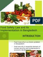 Food Safety (Bangladesh perspective)