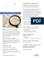 19 ECM9005 Econometric Analysis of Panel Data
