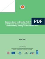 Baseline Study on Disaster Risk Management & Climate Change Impacts Knowledge and Understanding among CDMP Stakeholders-2007