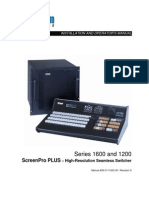 Product Manual - Barco (Folsom) - Screen Pro Plus 1603