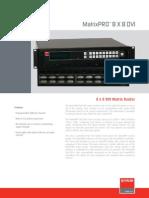 Manufacturer Data Sheet - Barco - MatrixPRO 8x8 DVI