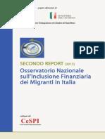 SECONDO REPORT (2013) Osservatorio Nazionale sull'Inclusione Finanziaria dei Migranti in Italia