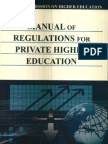 Manual of Regulations for Private Higher Education 2008 (MORPHE)