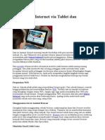 Tips Hemat Internet via Tablet Dan Smartphone