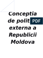 94143599 Concepţia Politicii Externe a Republicii Moldova