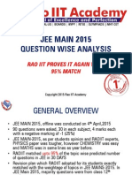 JEE Main 2015 Weightage Analyis
