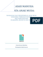 HAM Di Mata Anak Muda - Riset Pamflet 2015