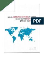 Rolul Migraţiei Externe a Forţei de Muncă În Economiile Ţărilor de Origine (Studiul de Caz Republica Moldova)