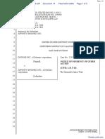 Google, Inc. v. Affinity Engines, Inc. - Document No. 14