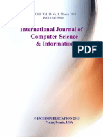 Journal of Computer Science IJCSIS March 2015