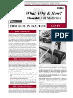 CIP17-FLowable Fill Materials