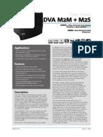 DVA M2M M2S Datasheet Rev1.2