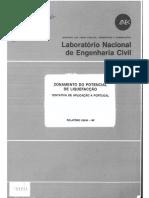 Zonamento do potencial à liquefação. Tentativa de aplicação em portugal.