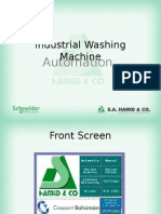 Industrial washing machine Automation