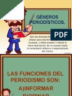 GENEROS PERIODISTICOS 2015