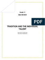 Tradition and the Individual Talent