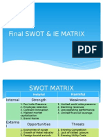 Final Swot & Ie Matrix