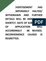 Job 73 Notice Advt
